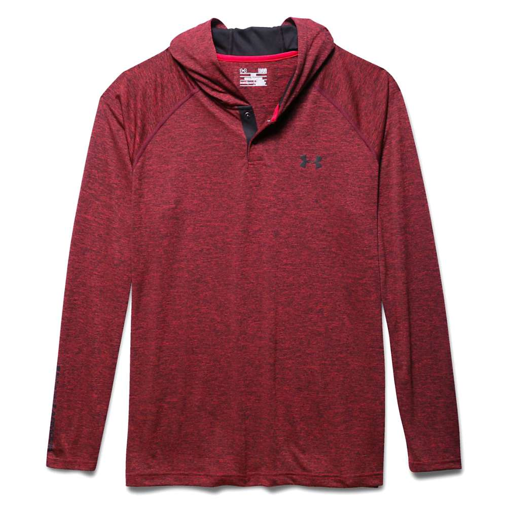 Under Armour Men's UA Tech Popover Henley - Small - Red / Black