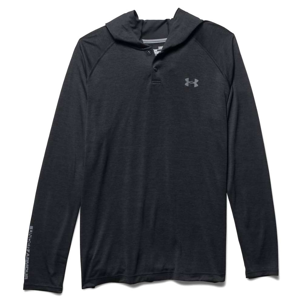 Under Armour Men's UA Tech Popover Henley - Medium - Black / Steel