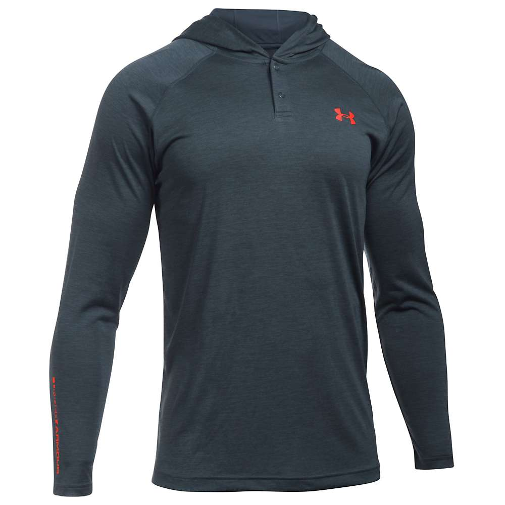 Under Armour Men's UA Tech Popover Henley - Large - Stealth Grey / Black