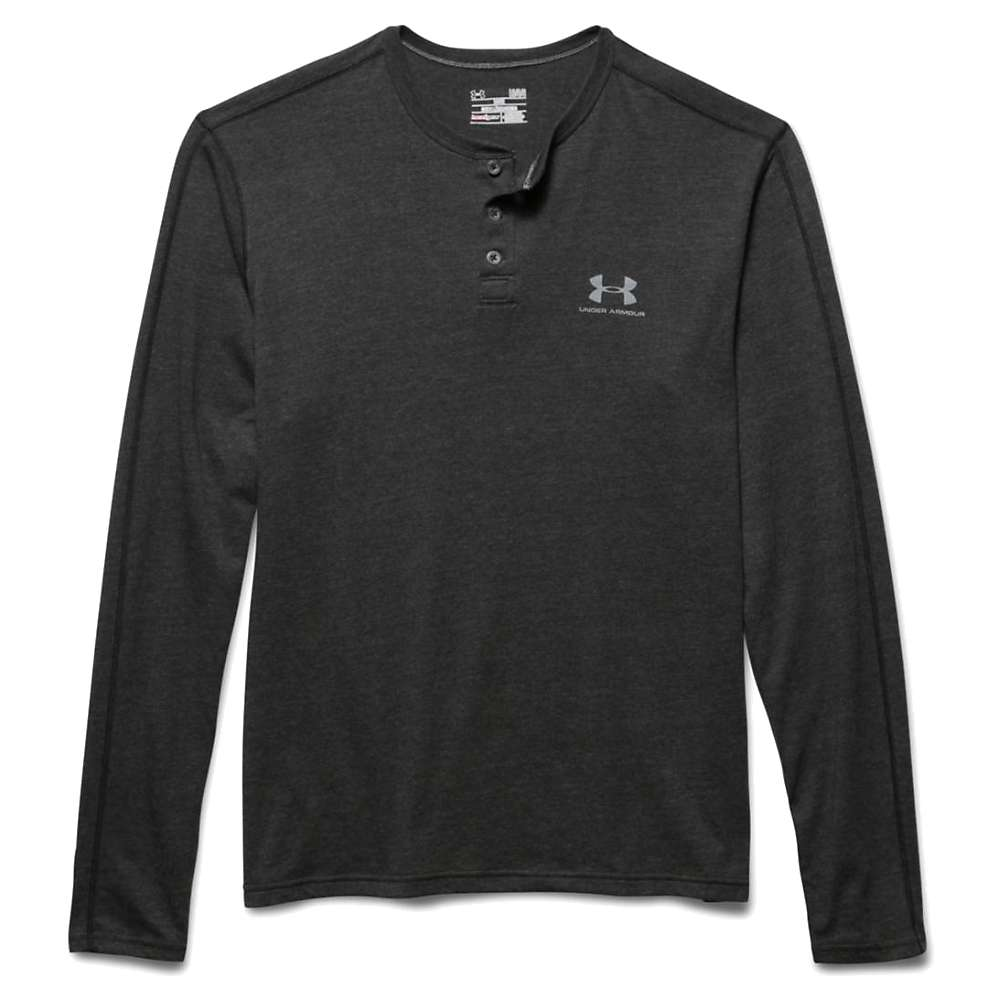 Under Armour Men's Tri Blend LS Henley - XL - Asphalt Heather / Asphalt Heather / Steel