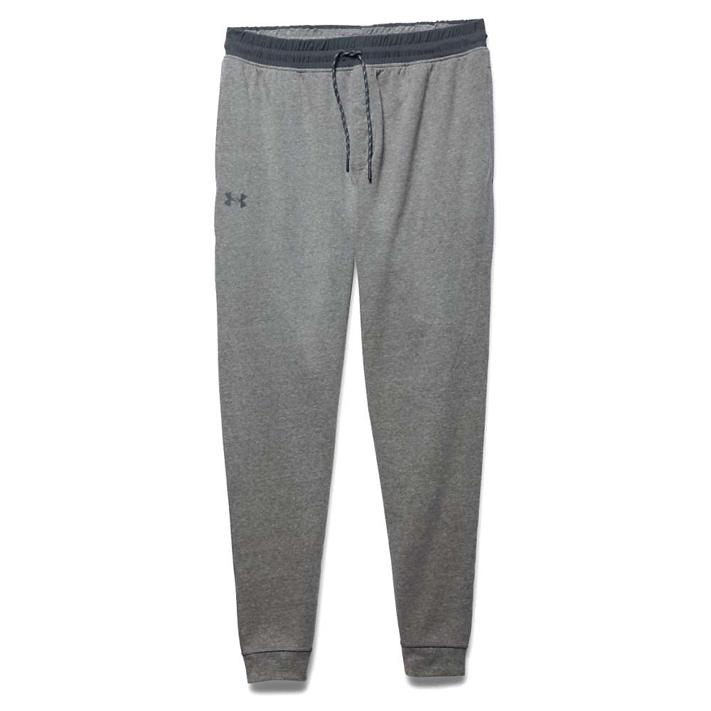 Under Armour Men's Triblend Fleece Jogger Pant - Medium - Greyhound Heather / Stealth Gray / Stealth Gray
