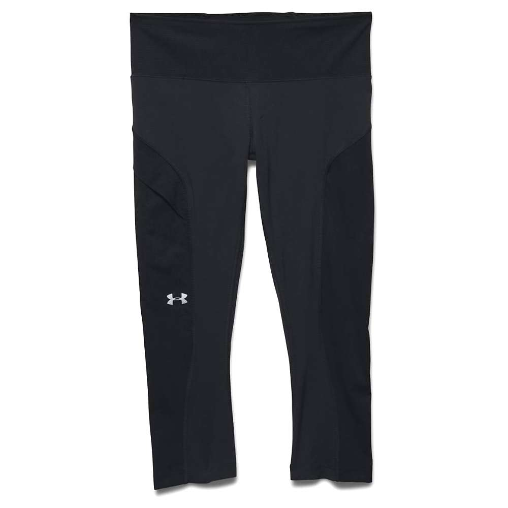 Under Armour Women's Armourvent Trail Capri - Large - Black / Glacier Grey