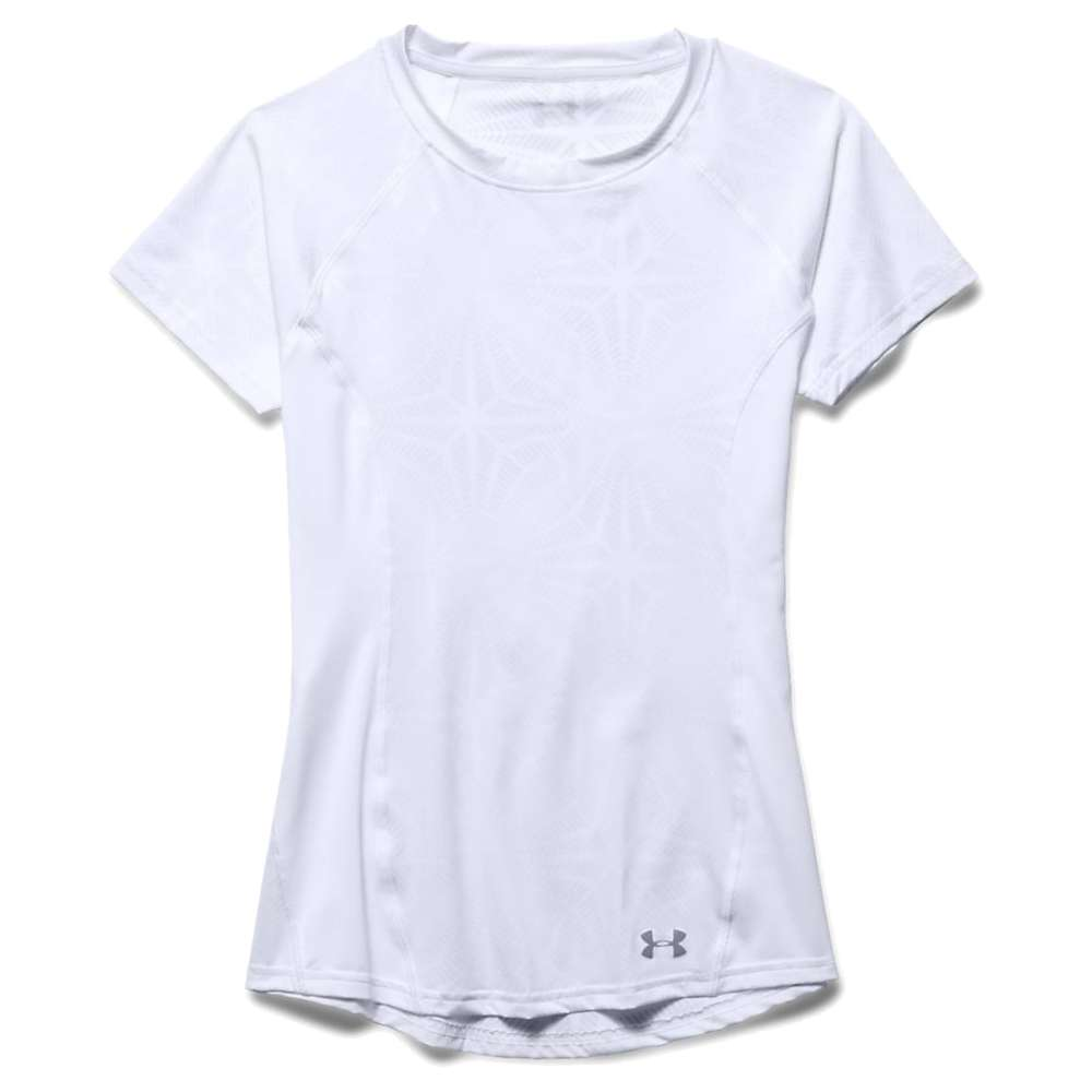 Under Armour Women's Coolswitch Trail SS Top - Large - White