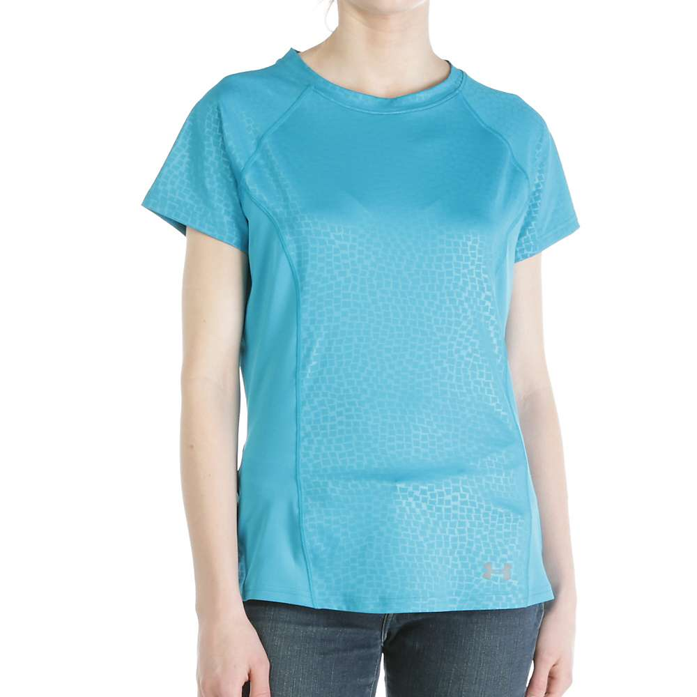 Under Armour Women's Coolswitch Trail SS Top - Medium - Aqua Blue