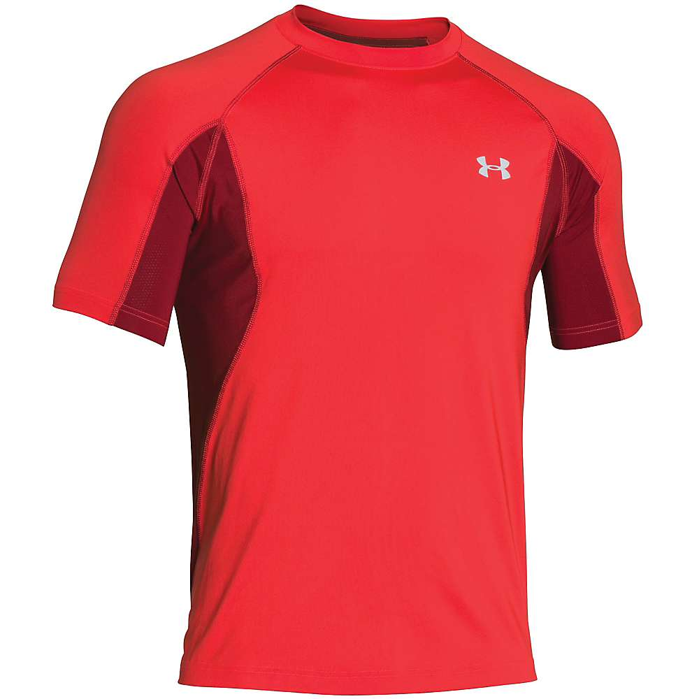 Under Armour Men's Coolswitch Trail SS Top - Small - Rocket Red