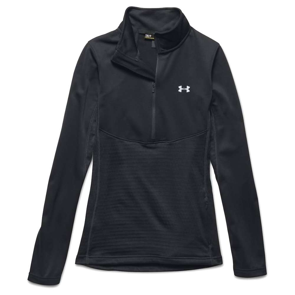 Under Armour Women's UA Gamutlite 1/2 Zip Top - Small - Black / Glacier Grey / Glacier Grey
