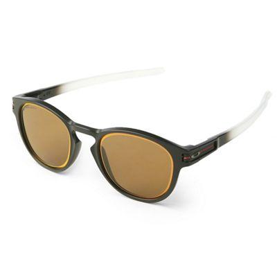 Oakley Latch Sunglasses - One Size - Grid Matte Trans Blue / PRIZM Sapphire