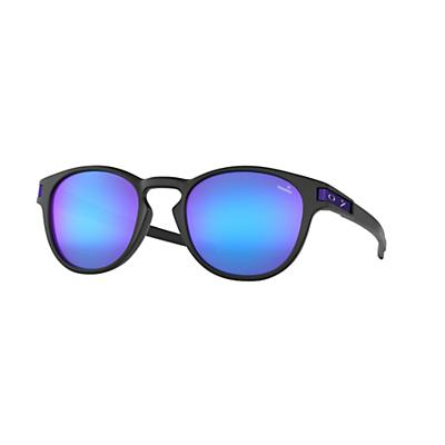Oakley Latch Sunglasses - Matte Black/Violet Iridium