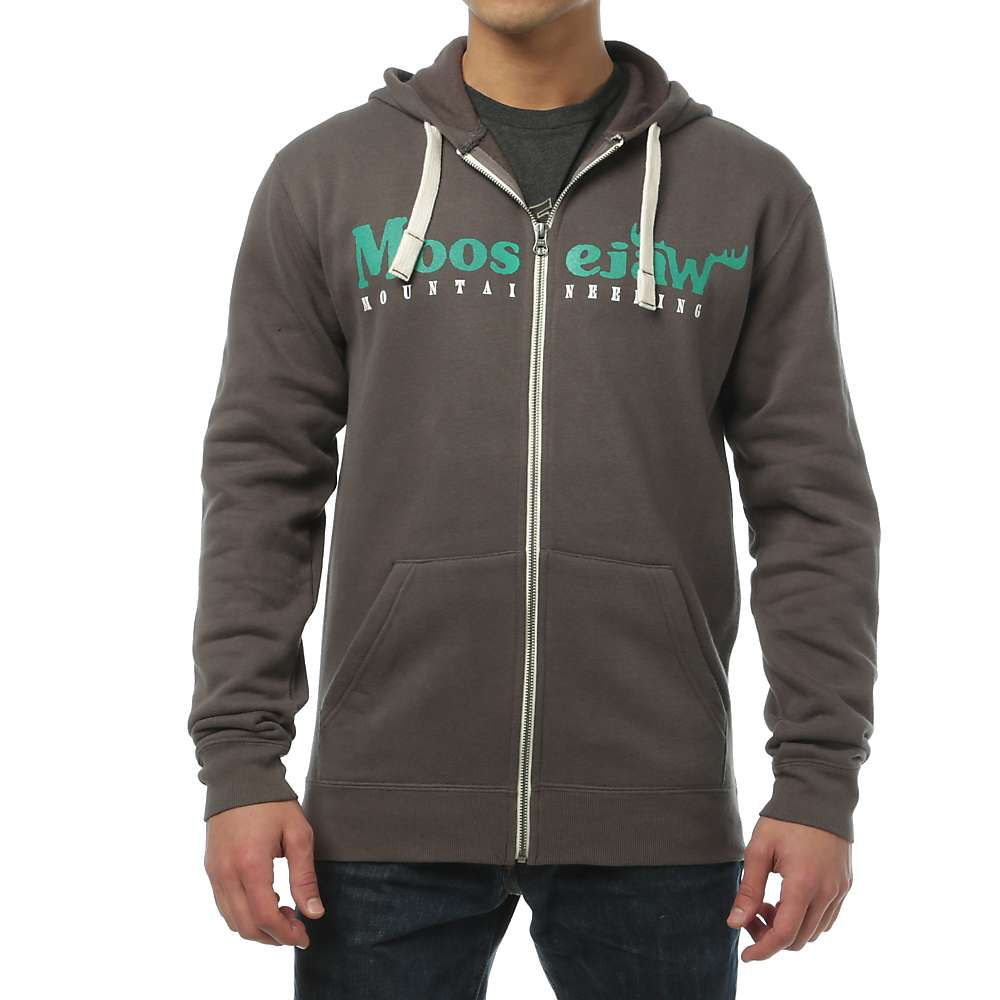 Moosejaw Men's Original Heavy Weight Zip Hoody - XL - Iron / Green / Cool Grey