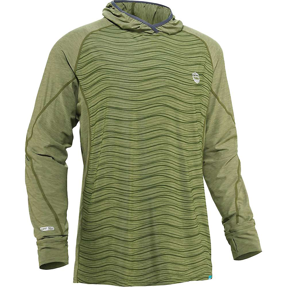 Coupons NRS Mens H2Core Silkweight Hoodie - Small - Olive
