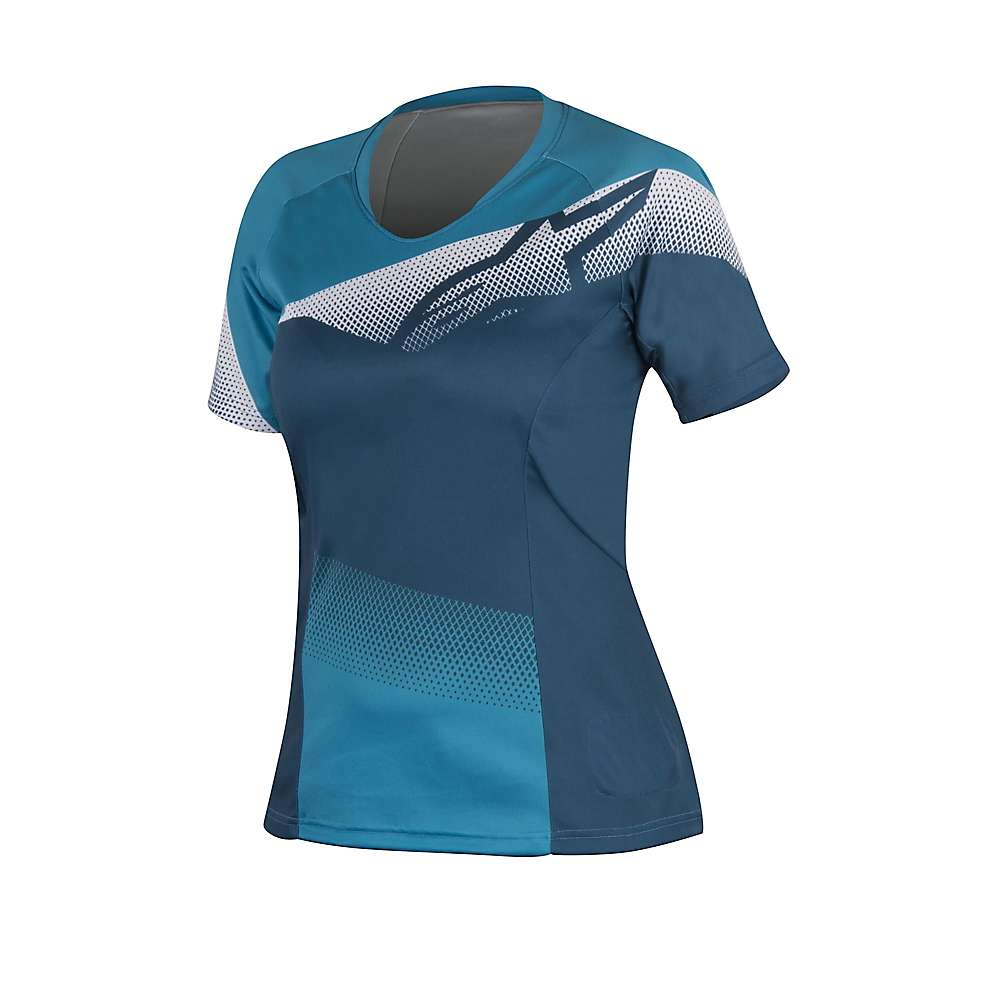 Alpine Stars Women's Stella Mesh SS Jersey - Medium - Blue / Aqua
