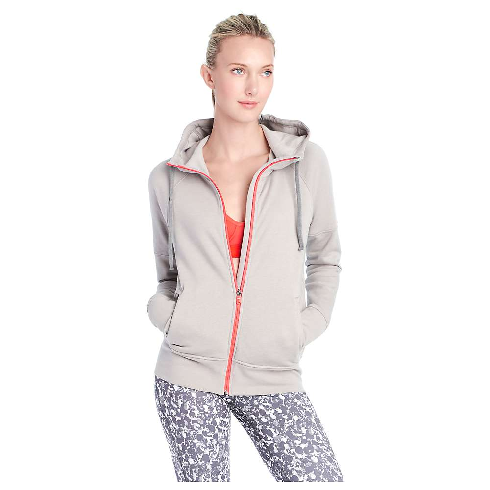 Lole Women's Unite Hooded Cardigan - Large - Warm Grey Heather