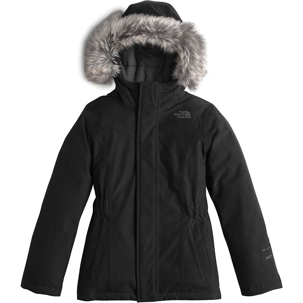 The North Face Girl's Greenland Down Parka - Large - TNF Black / Graphite Grey