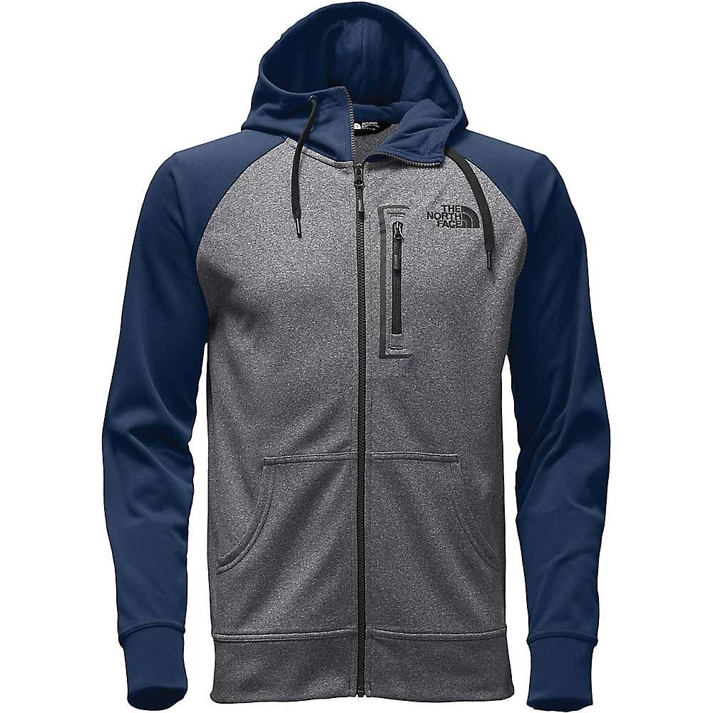 The North Face Men's Mack Mays Full Zip Hoodie - XXL - TNF Medium Grey Heather / Shady Blue