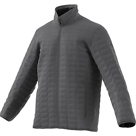 Adidas Men's Flyloft Jacket Grey Five Adidas Men's Flyloft Jacket - Grey Five - in stock now. FEATURES of the Adidas Men's Flyloft Jacket Synthetic down insulation lightweight filling for warmth and comfort Folds into its own pocket for easy storage Ultra lightweight material for best packability and protection Two hand pockets with zippers