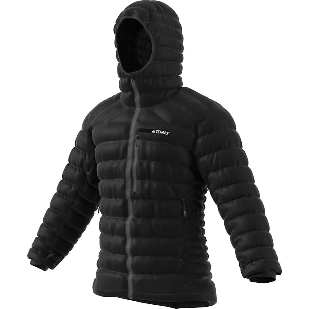 Adidas Men's Terrex Climaheat Agravic Down Hooded Jacket - Large - Black CE6475