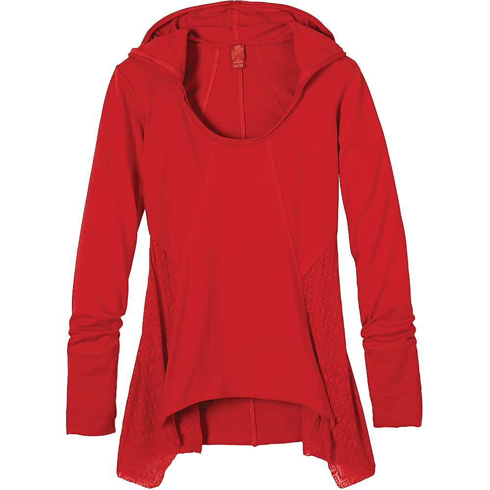 Prana Women's Lauriel Hoodie - Large - Sunwashed Red