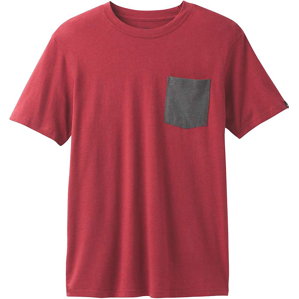 Prana Men's Pocket Tee - XXL - Crimson Heather