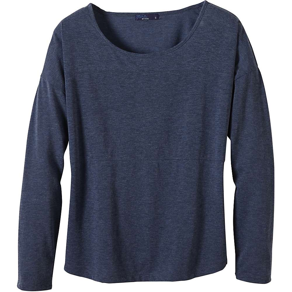 Prana Women's Vicky LS Top - Large - Grey Indigo