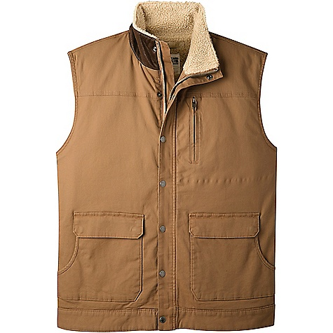 Mountain Khakis Men's Ranch Shearling Vest Tobacco Mountain Khakis Men's Ranch Shearling Vest - Tobacco - in stock now. FEATURES of the Mountain Khakis Men's Ranch Shearling Vest 5 Pockets Standup collar MK embroidery at center back neck