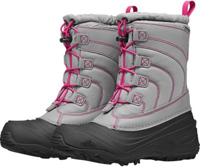 The North Face Youth Alpenglow IV Boot - Frost Grey / Mr. Pink
