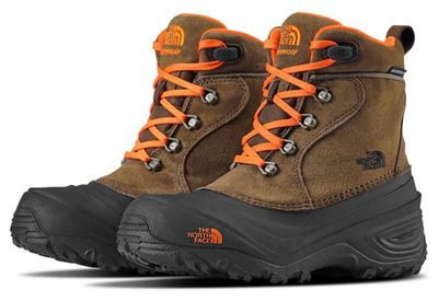 The North Face Youth Chilkat Lace II Boot - Tarmac Green / Scarlet Ibis
