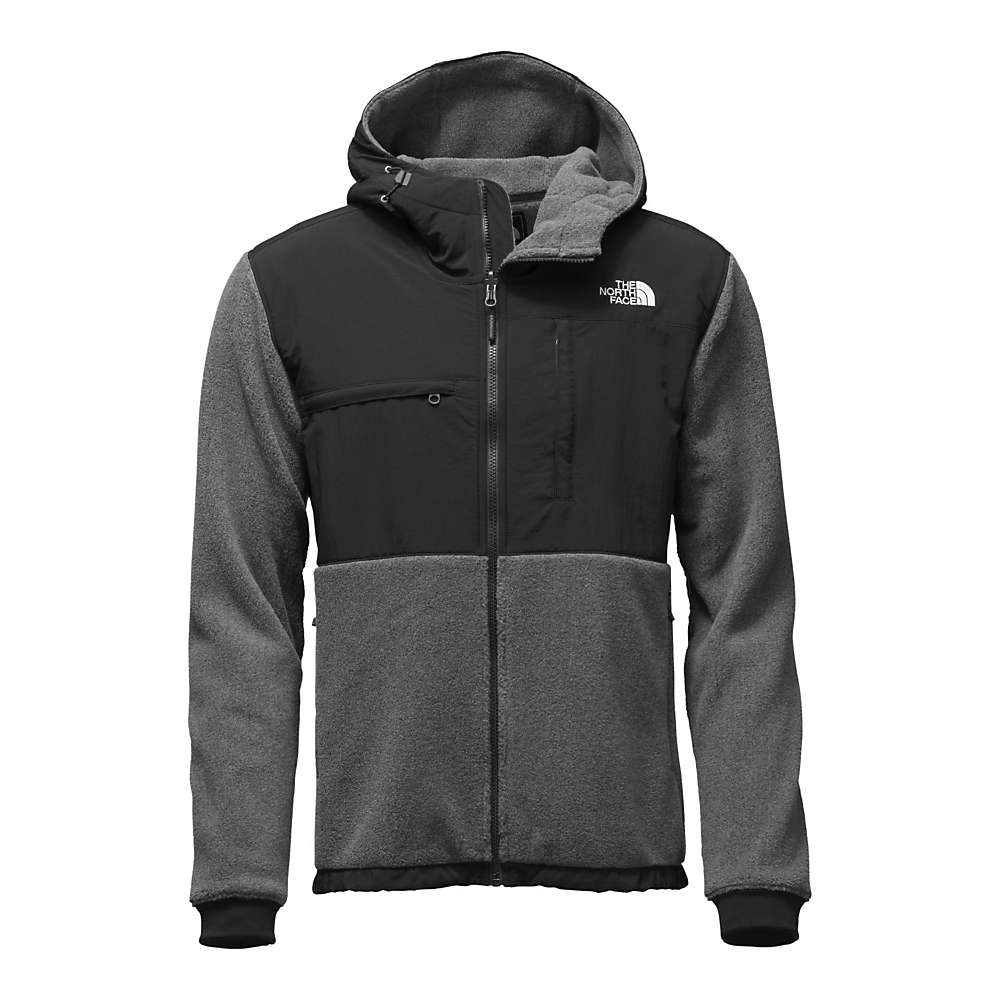 The North Face Men's Denali 2 Hoodie - XL - Recycled Charcoal Grey Heather / TNF Black