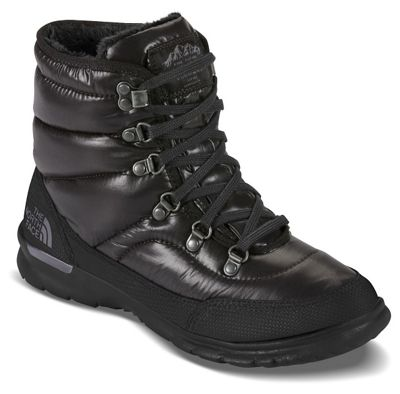 The North Face Womens ThermoBall Lace II Boot - Shiny TNF Black/Iron Gate Grey