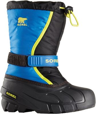 Sorel Youth Flurry Boot - Black / Super Blue
