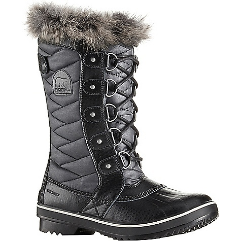 Sorel Women's Tofino II Boot Black / Stone Sorel Women's Tofino II Boot - Black / Stone - in stock now. FEATURES of the Sorel Women's Tofino II Boot Upper: Waterproof coated canvas upper or textile upper faux fur collar Waterproof breathable membrane construction Fleece lining 100g insulation Footbed: Removable molded EVA footbed, microfleece topcover Midsole: Rubber Outsole: Molded rubber outsole