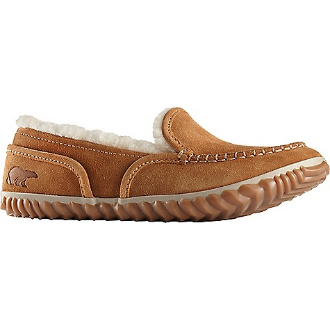 Sorel Women's Tremblant Moc Shoe Elk Sorel Women's Tremblant Moc Shoe - Elk - in stock now. FEATURES of the Sorel Women's Tremblant Moc Shoe Upper: Suede leather upper Wool/acrylic blend lining Footbed: Removable molded EVA footbed covered with wool/acrylic blend Outsole: Rubber outsole with herringbone design Vulcanized rubber compound is improved for wet traction
