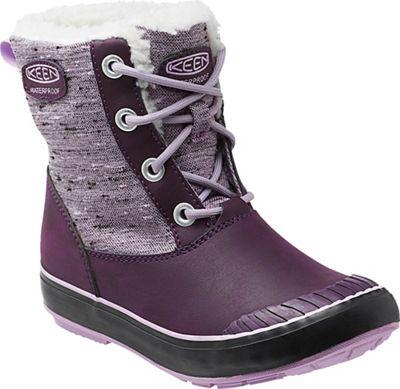 Keen Youth Elsa Waterproof Boot - Plum / Pastel Lilac