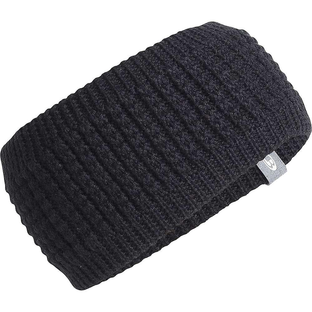Icebreaker Affinity Headband - One Size - Black / Gritstone Heather