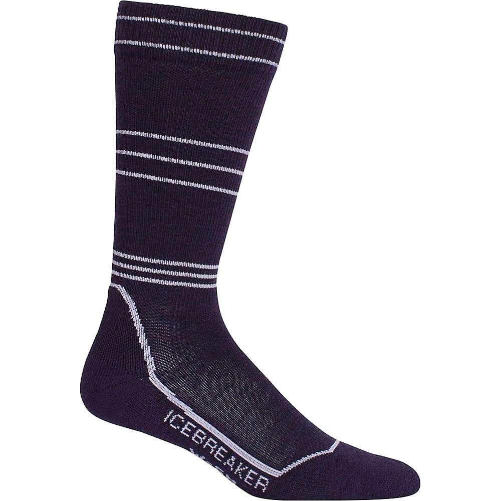Icebreaker Women's Ski+ Light Cushion Compression Over The Calf Sock - Medium - Burgundy Heather / Silk Heather