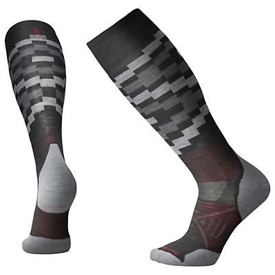 Smartwool PhD Ski Light Elite Sock - Charcoal Pattern