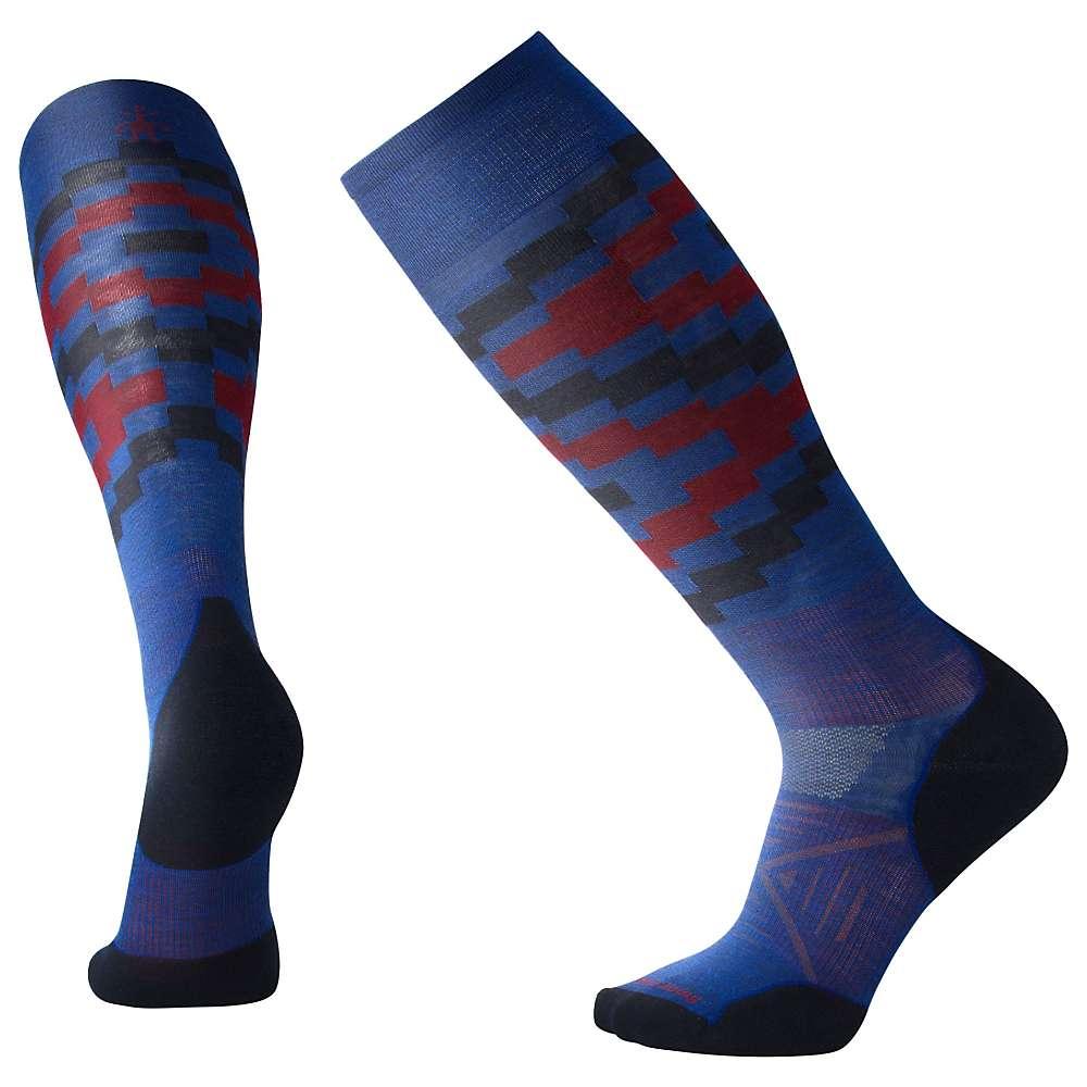 Smartwool PhD Ski Light Elite Sock - Medium - Dark Blue Pattern