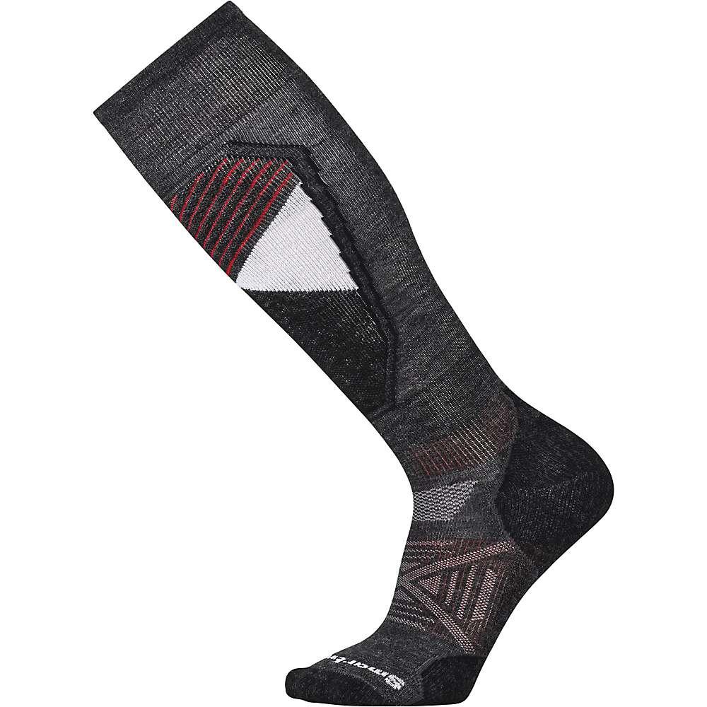 Smartwool PhD Ski Light Sock - Medium - Charcoal Pattern