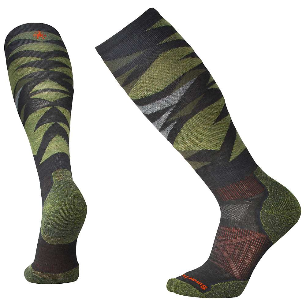 Smartwool PhD Ski Light Sock - Medium - Charcoal Pattern F18