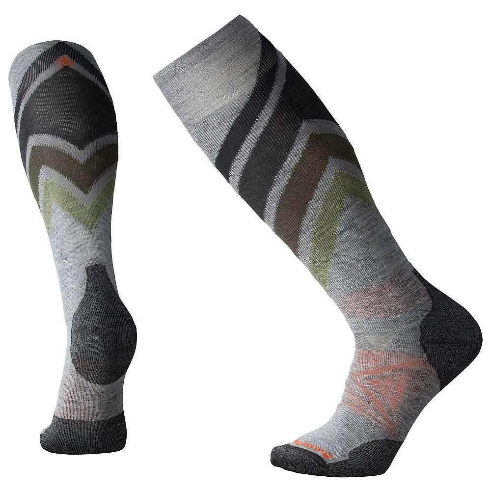 Smartwool PhD Ski Medium Sock - Medium - Light Grey Pattern F18