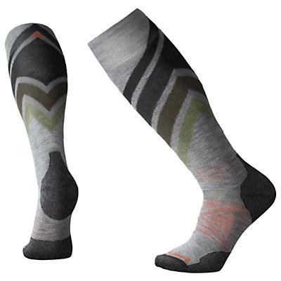 Smartwool PhD Ski Medium Sock - Light Grey Pattern F18