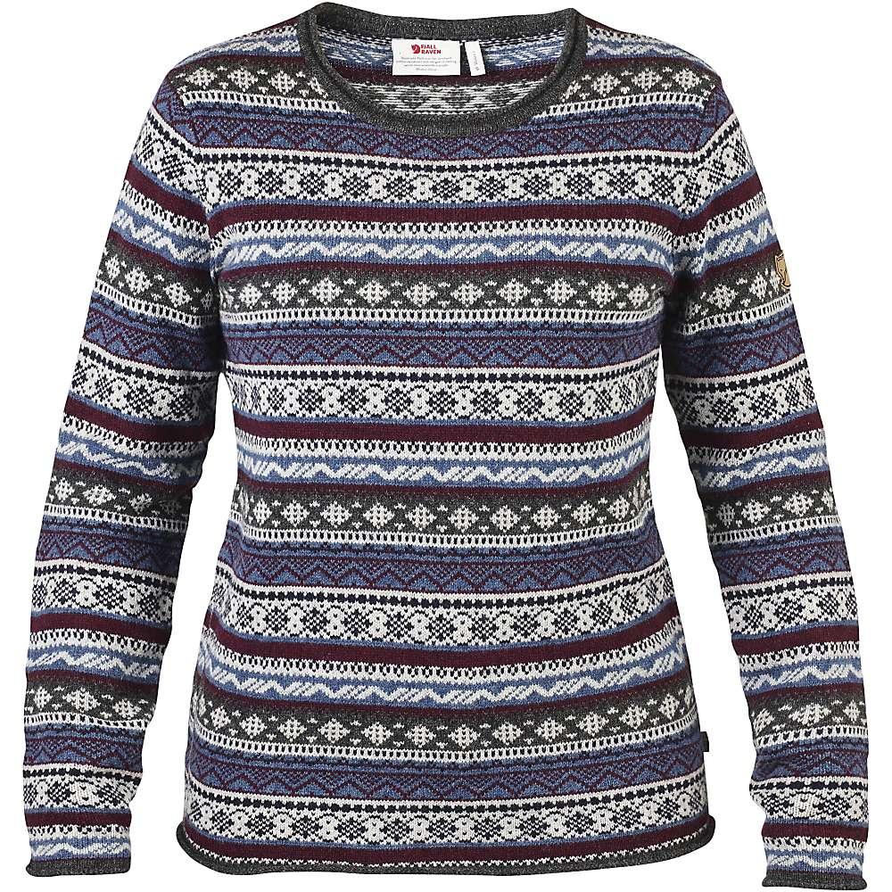 Fjallraven Women's Ovik Folk Knit Sweater - Medium - Uncle Blue