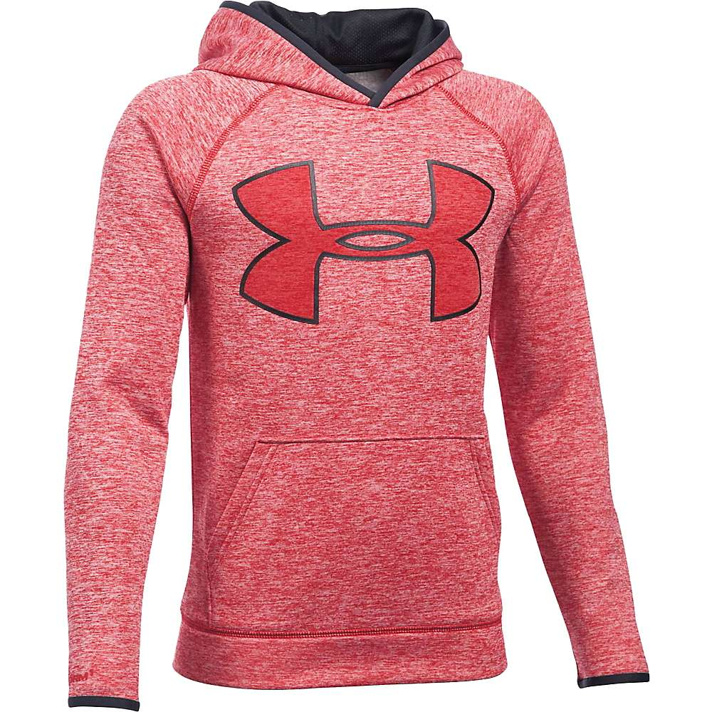 Under Armour Boys' UA Armour Fleece Storm Twist Highlight Hoodie - Small - Red / Black / Red