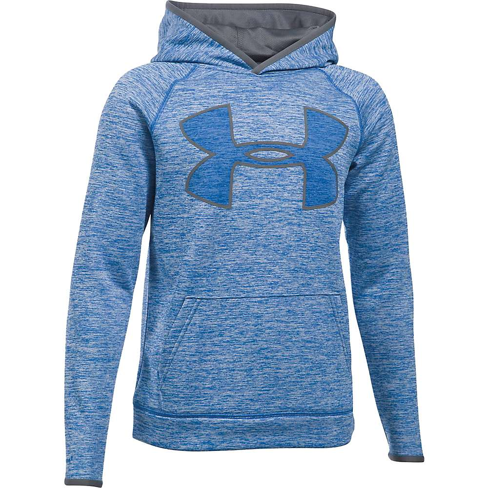 Under Armour Boys' UA Armour Fleece Storm Twist Highlight Hoodie - Small - Ultra Blue / Graphite / Graphite