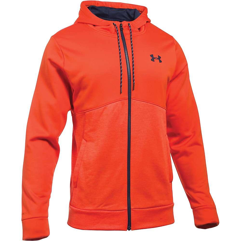 Under Armour Men's Armour Fleece Franchise Full Zip Hoodie - XXL - Dark Orange / Midnight Navy