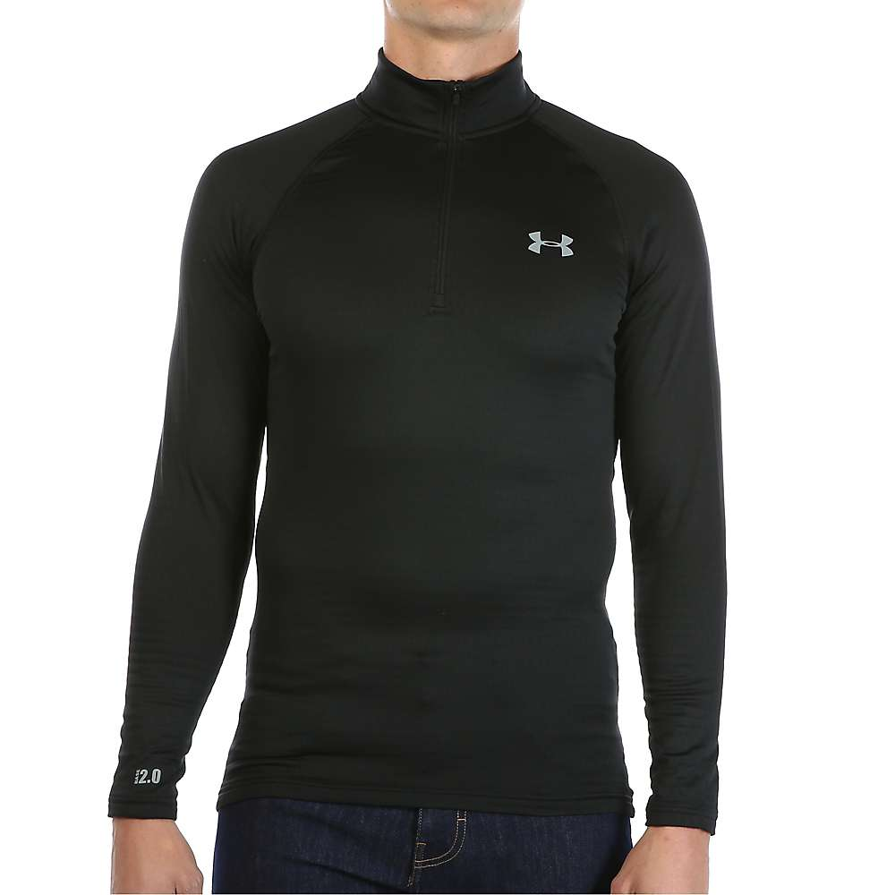 Under Armour Men's UA Base 2.0 1/4 Zip Top - XL - Black / Steel