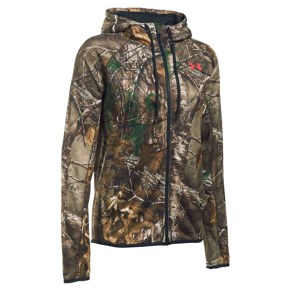 Under Armour Women's Camo Full Zip Hoodie - Small - Realtree Ap-Xtra / Pink Chroma