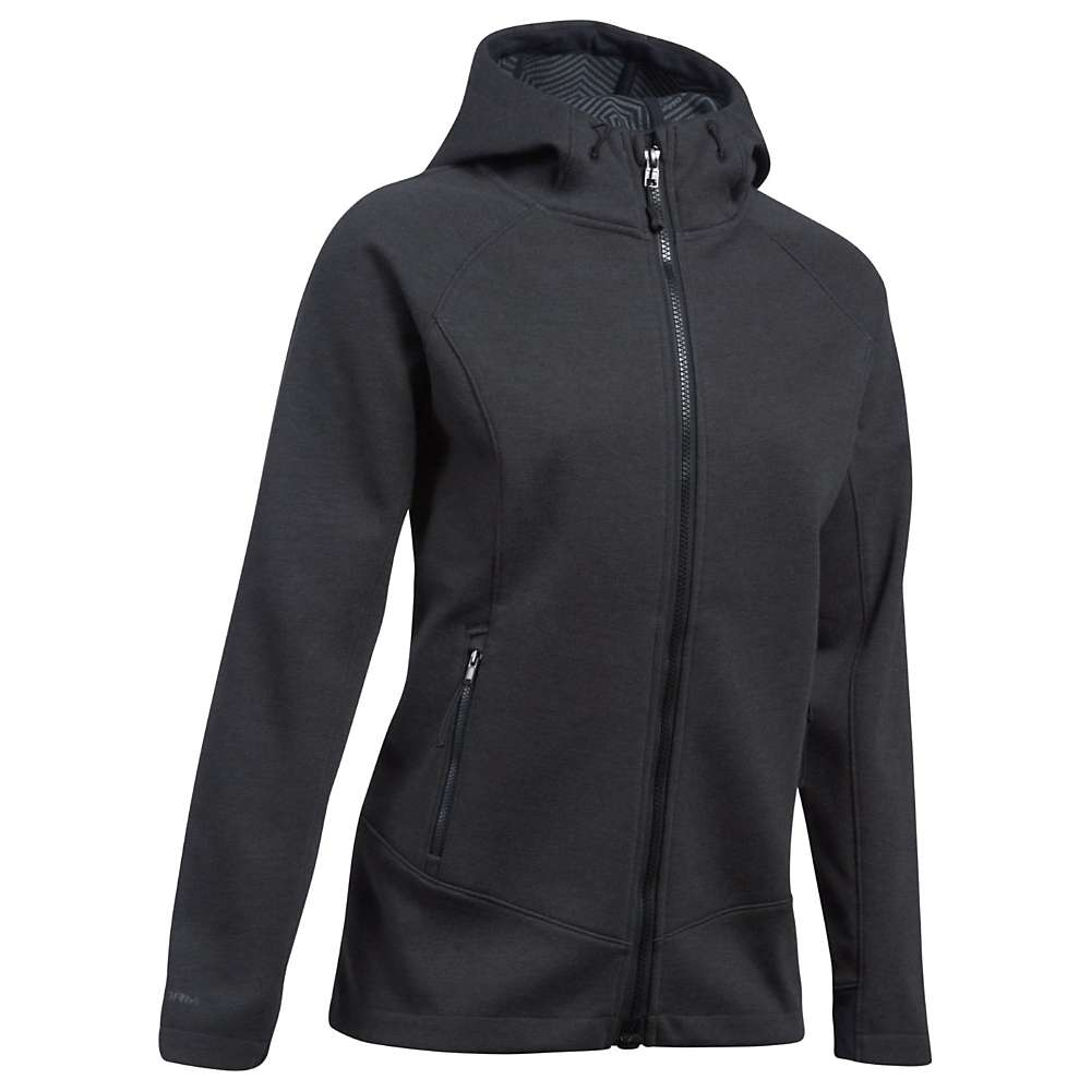 Under Armour Women's ColdGear Infrared Dobson Softshell Jacket - Small - Asphalt Heather