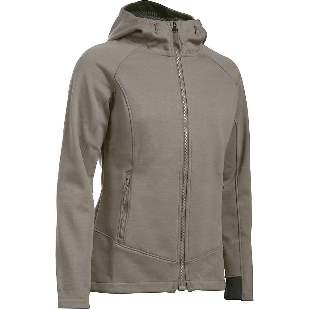 Under Armour Women's ColdGear Infrared Dobson Softshell Jacket - Medium - Stoneleigh Taupe / Opal Green