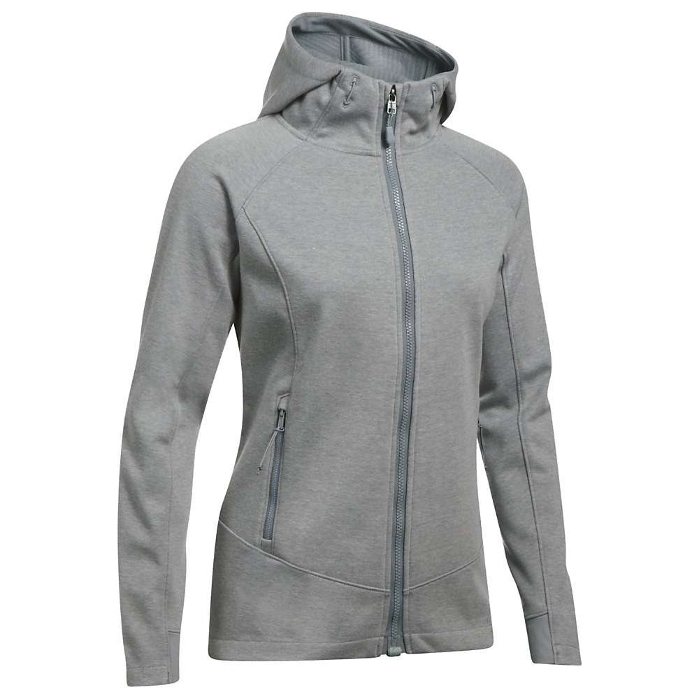 Under Armour Women's ColdGear Infrared Dobson Softshell Jacket - Large - True Grey Heather / Steel / White