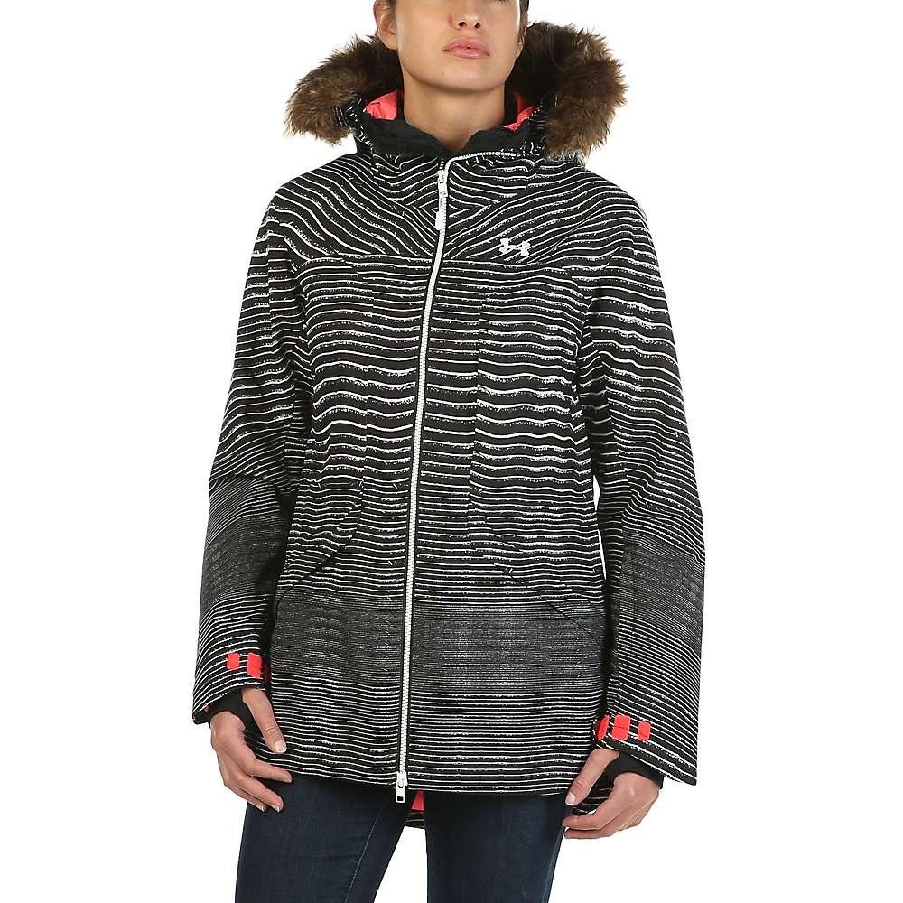 Under Armour Women's ColdGear Infrared Kymera Jacket - Medium - Black / Marathon Red / White